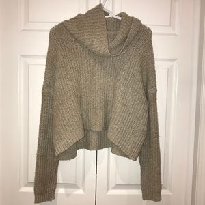 Forever 21 Beige Turtle Neck Knit Sweater
